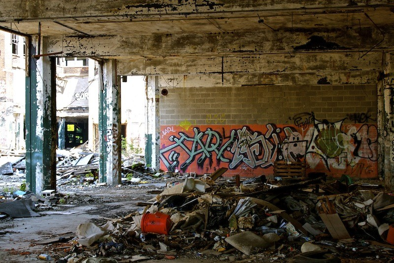 Packard Automotive Plant - Pink Graffiti