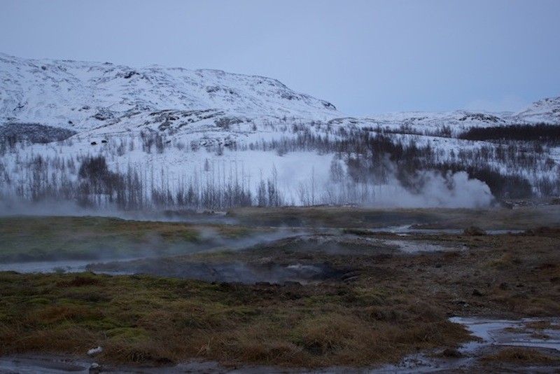 Geysir Geothermal Field in Iceland - View Over Fields