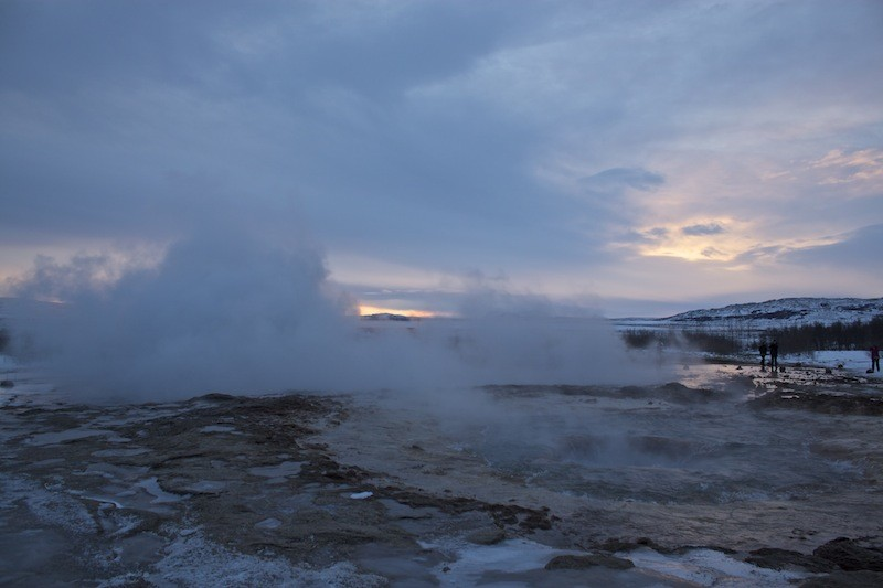 Geothermal Area Golden Circle - Sunset Photo