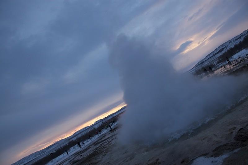 Geysir Geothermal Field in Iceland - Exploding Water