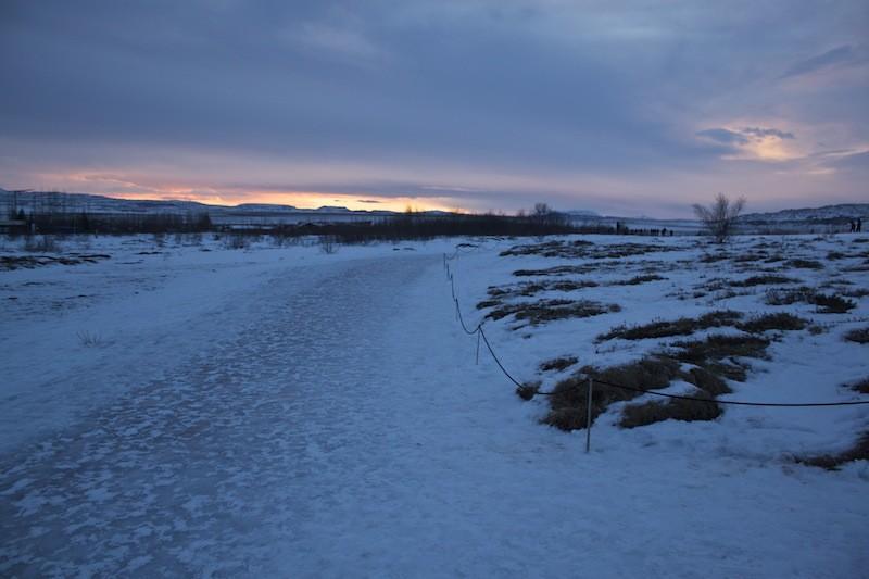 Geysir Geothermal Field in Iceland - Sunset Walk