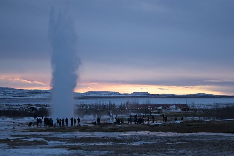 Geysir Geothermal Field in Iceland - Distant View