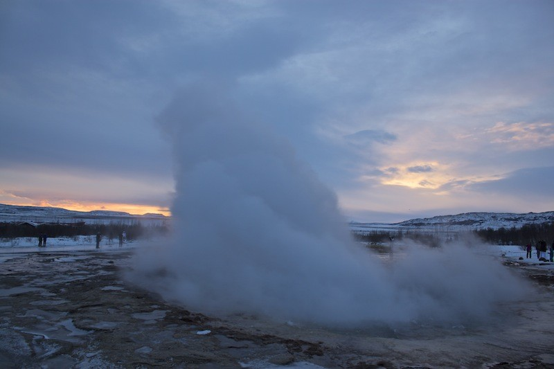 Geothermal Area Golden Circle - Geysir Most Explosion