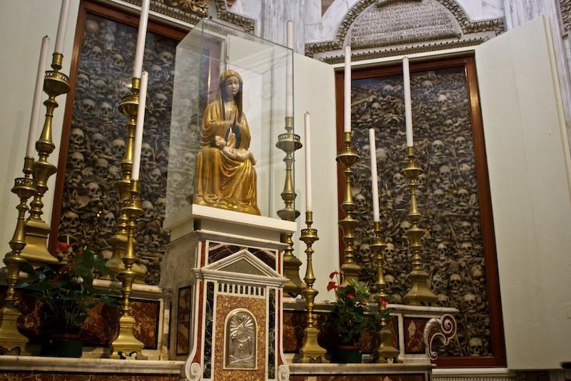 Cathedral of Santa Maria Annunziata in Otranto Interior Skulls and Bones