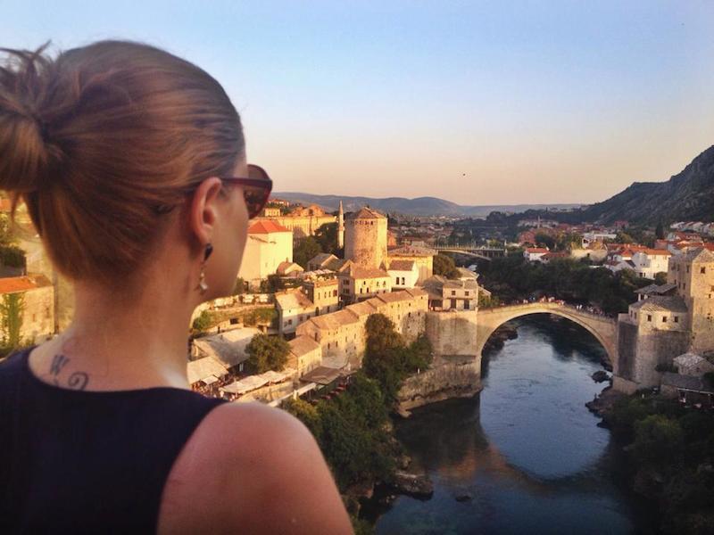 Cheryl Howard at Stari Most in Mostar