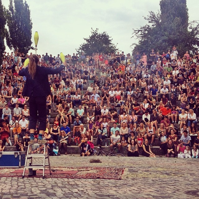 Entertainment at Mauerpark