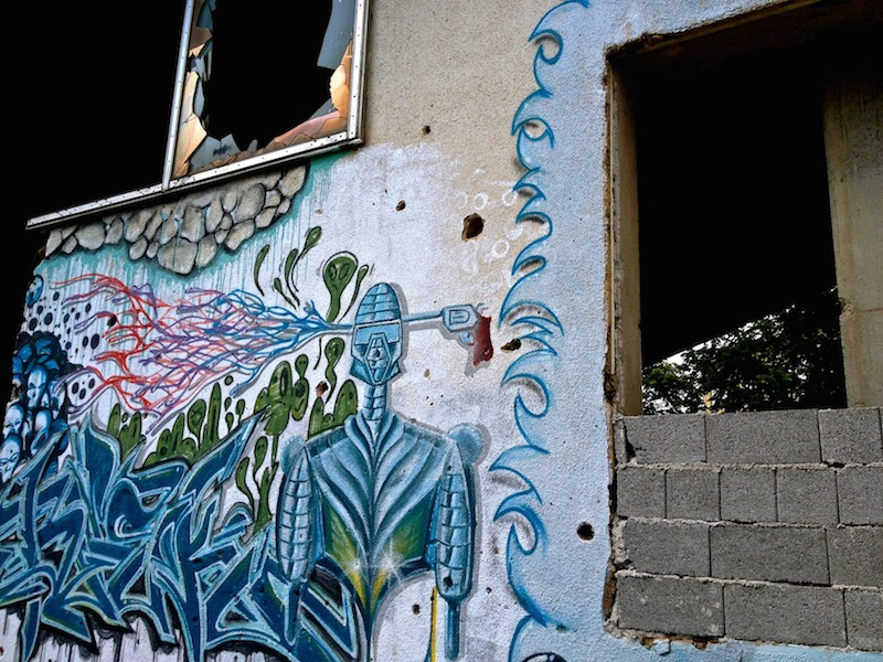 Mostar Street Art - Gunshot to Head