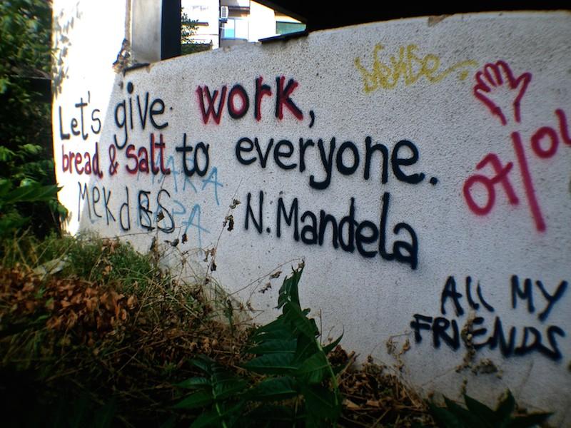 Mostar Street Art - Nelson Mandela