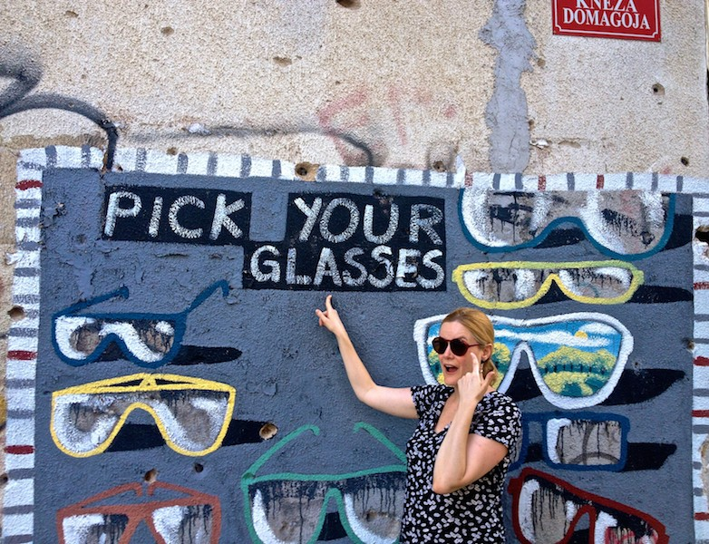 Mostar Street Art - Pick Your Glasses