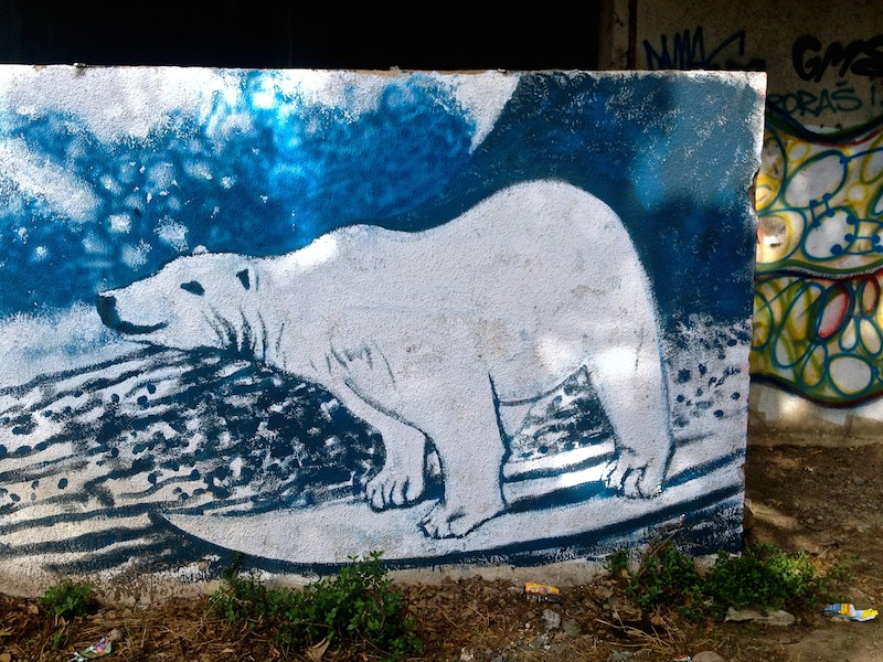 Street Art and Graffiti in Mostar, Bosnia - Polar Bear
