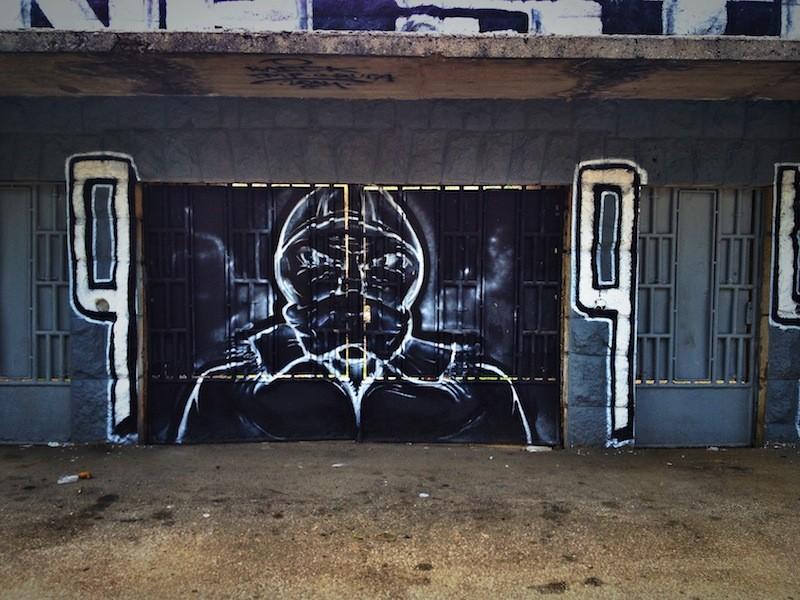Street Art and Graffiti in Mostar, Bosnia - Soccer Football Stadium