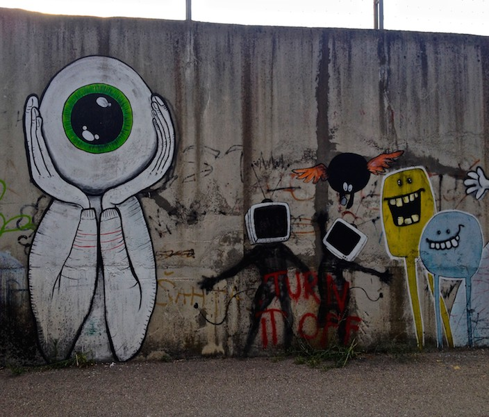 Street Art and Graffiti in Mostar, Bosnia - Turn it Off