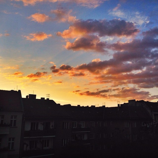 Sunset in Prenzlauerberg Berlin