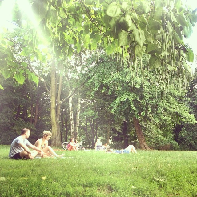 Tanning in Volkspark Friedrichshain