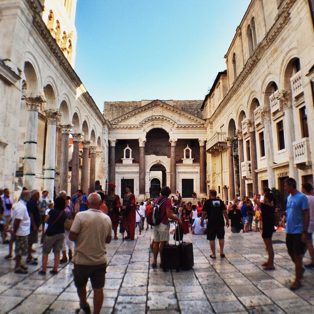 Diocletian's Palace With Tourists