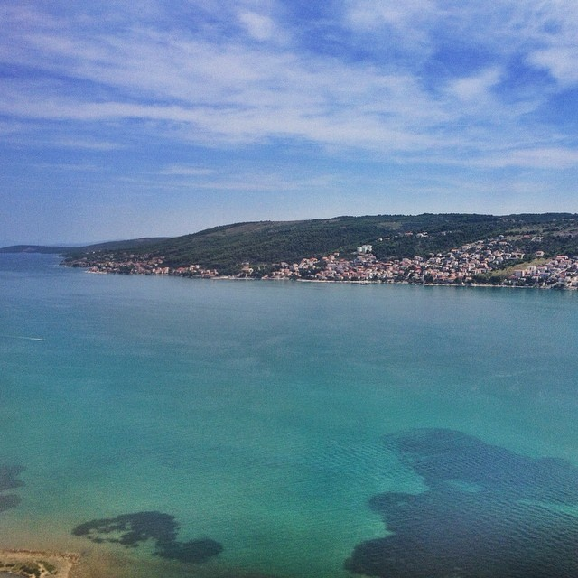 Flying Into Split Croatia