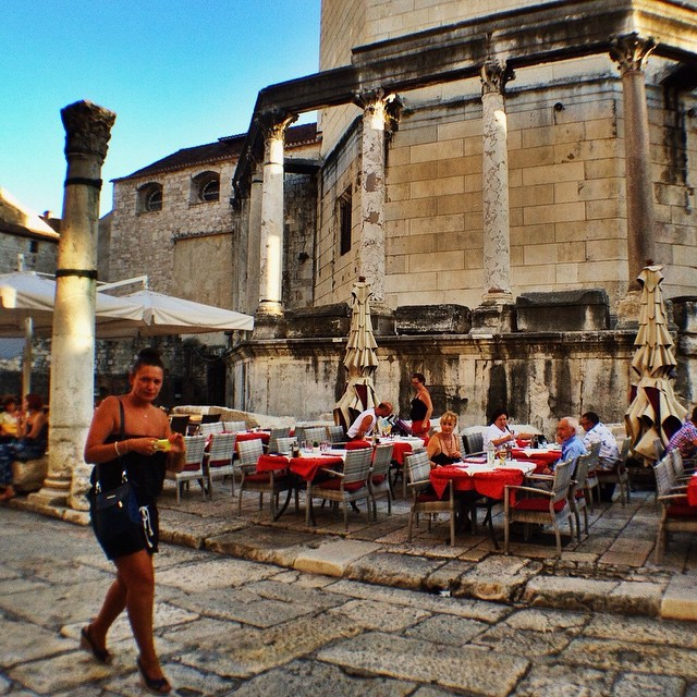 Outdoor Cafe in Old Town Split