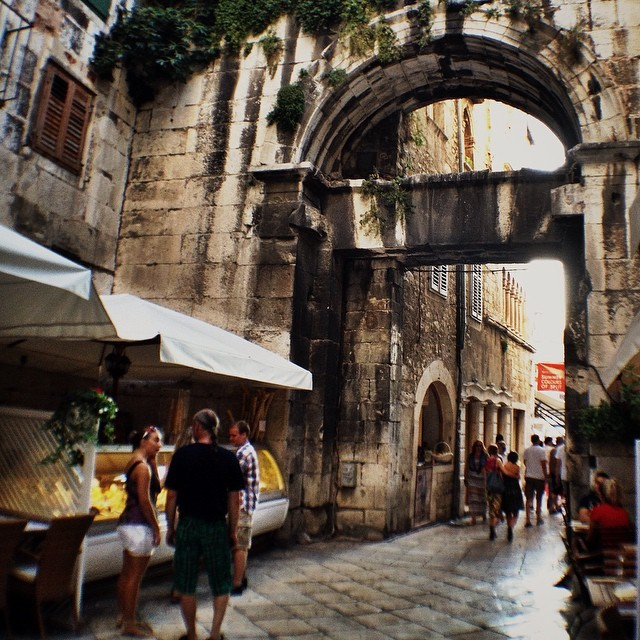 Streets of Old Town Split