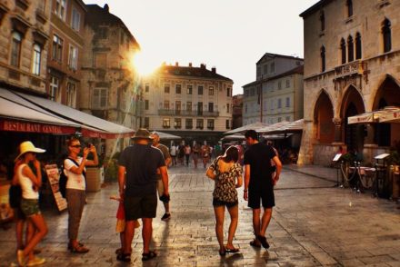 Sunset in Split Old Town