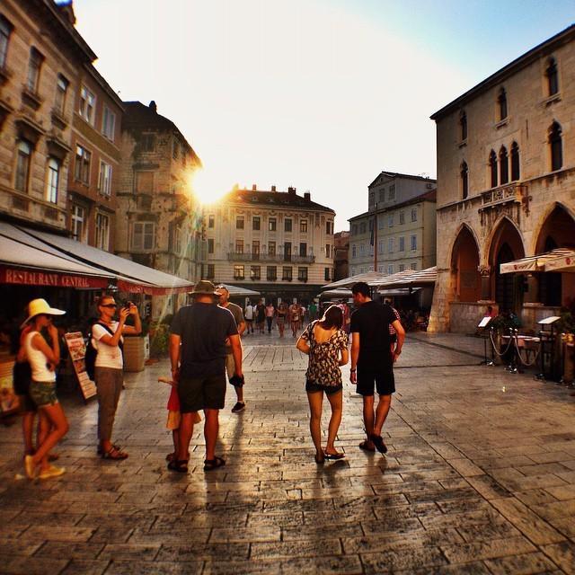 Sunset in Split Old Town