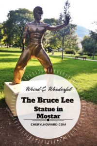 Bruce Lee Statue in Mostar