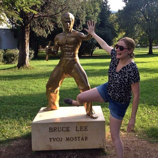 Cheryl Howard Bruce Lee in Mostar