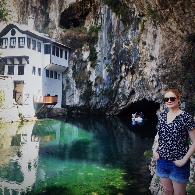 Visit Mostar, Bosnia and Herzegovina - Cheryl Howard at Blagaj Bosnia