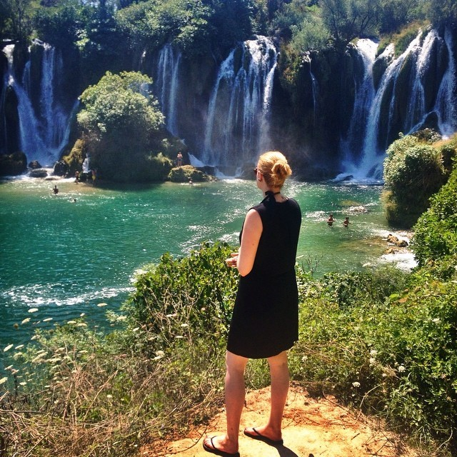 Visit Mostar, Bosnia and Herzegovina - Cheryl Howard at Kravice Falls Mostar