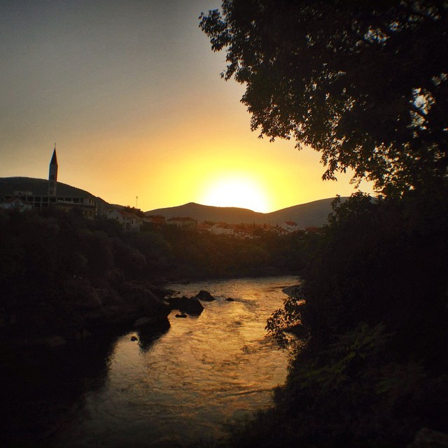Visit Mostar, Bosnia and Herzegovina - Sunset Over the Neretva in Mostar