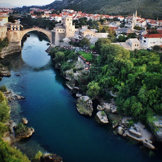 Visit Mostar, Bosnia and Herzegovina - View of Stari Most in Mostar