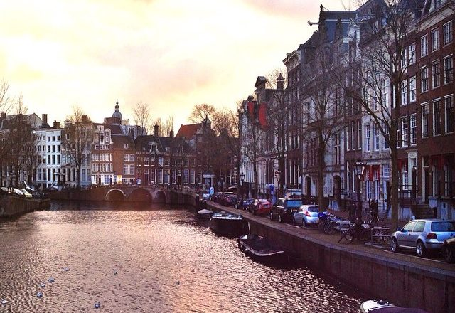 Sunset Over the Amsterdam Canals