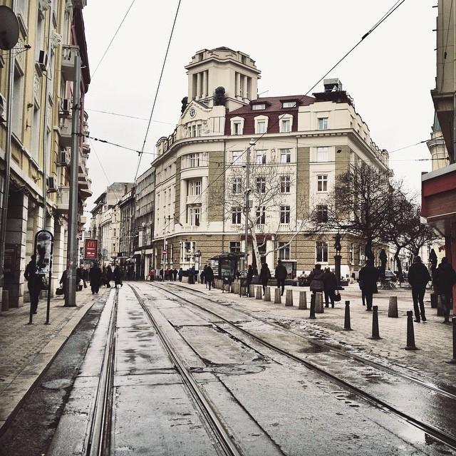 City Center Scene Sofia Bulgaria