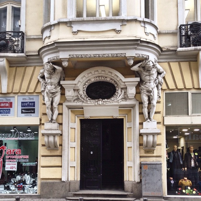 Door and Architectural Details in Sofia Bulgaria