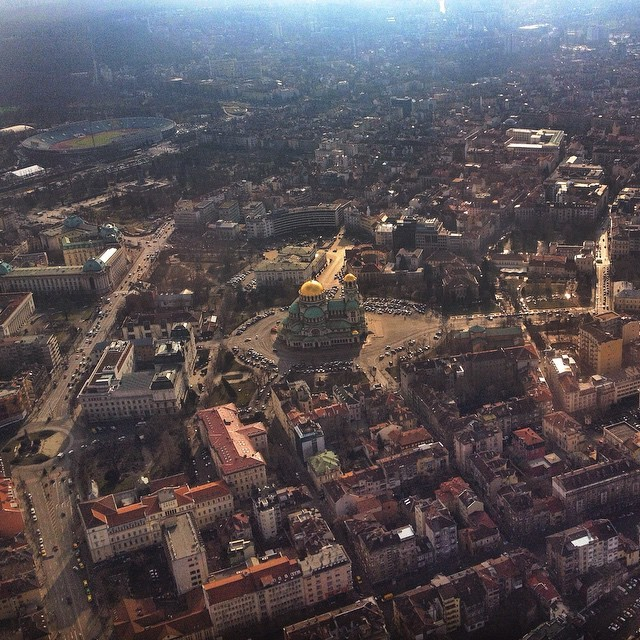 Flying Into Sofia Bulgaria