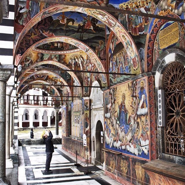 Frescoes at Rila Monastery in Bulgaria