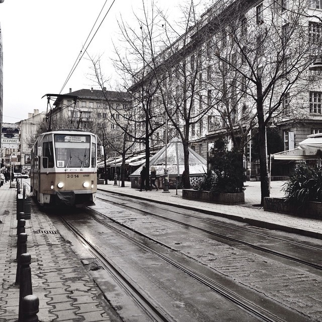 Tram in Sofia Bulg aria City Center