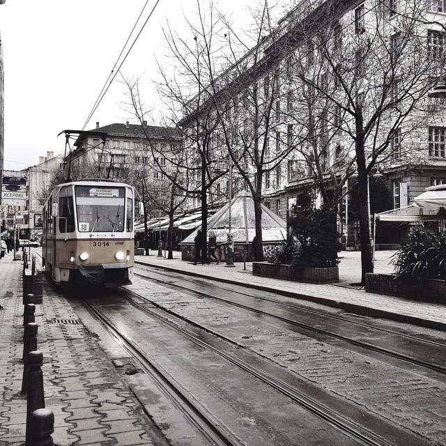 Tram in Sofia Bulg aria City Center