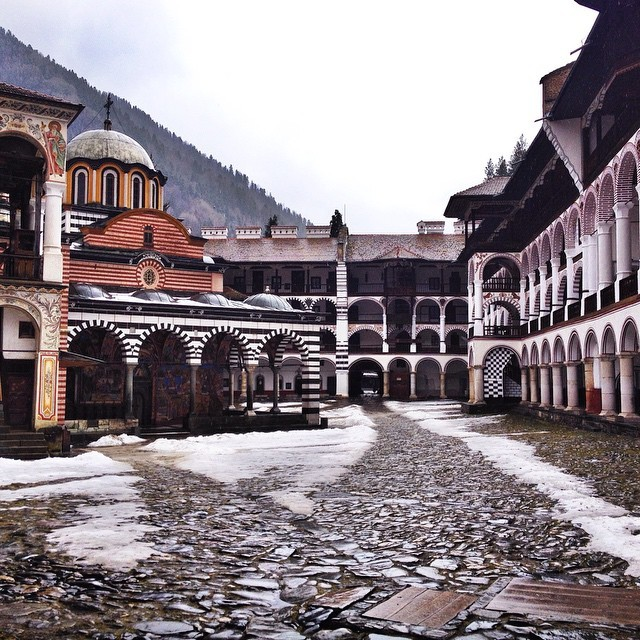 Winter Moments at Rila Monastery in Bulgaria