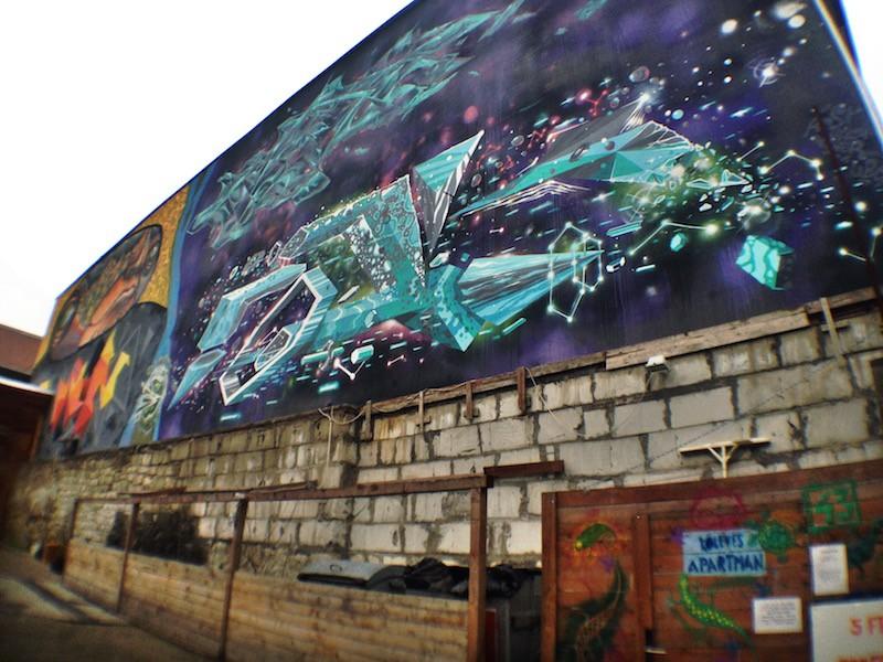 Buda or Pest? Street Art Mural Budapest
