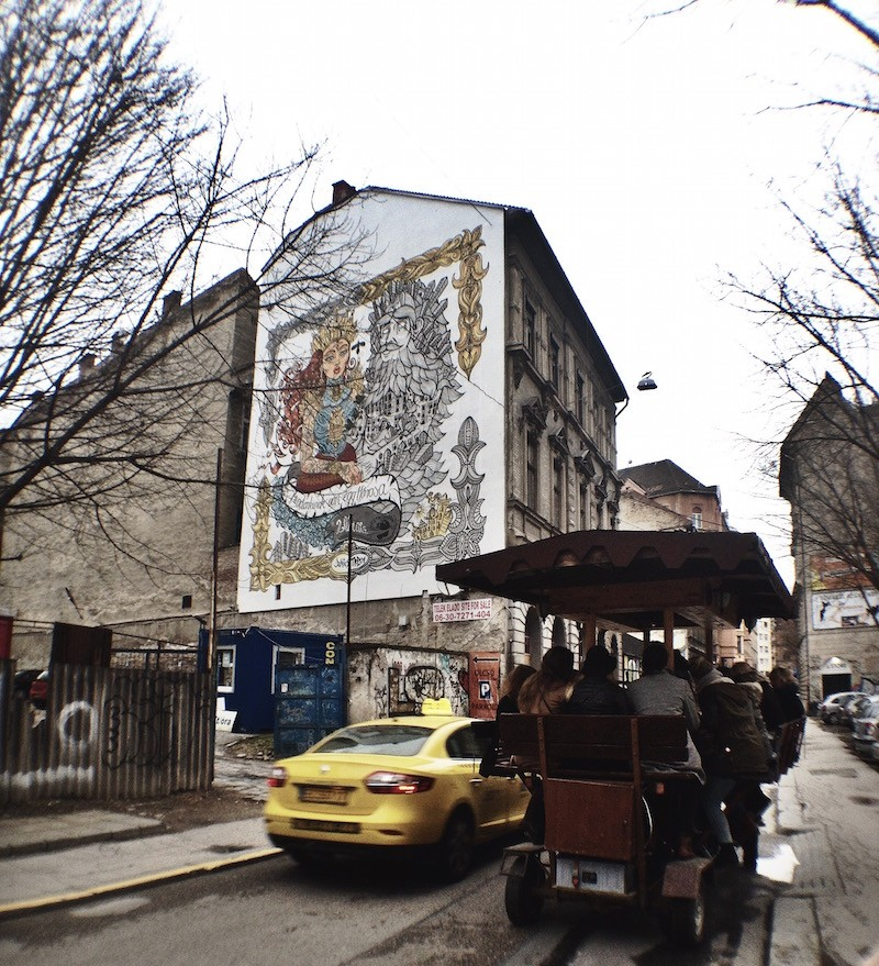 Everyone Has a City Street Art Mural Budapest
