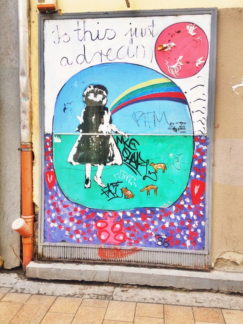 Is This Just a Dream Street Art in Budapest