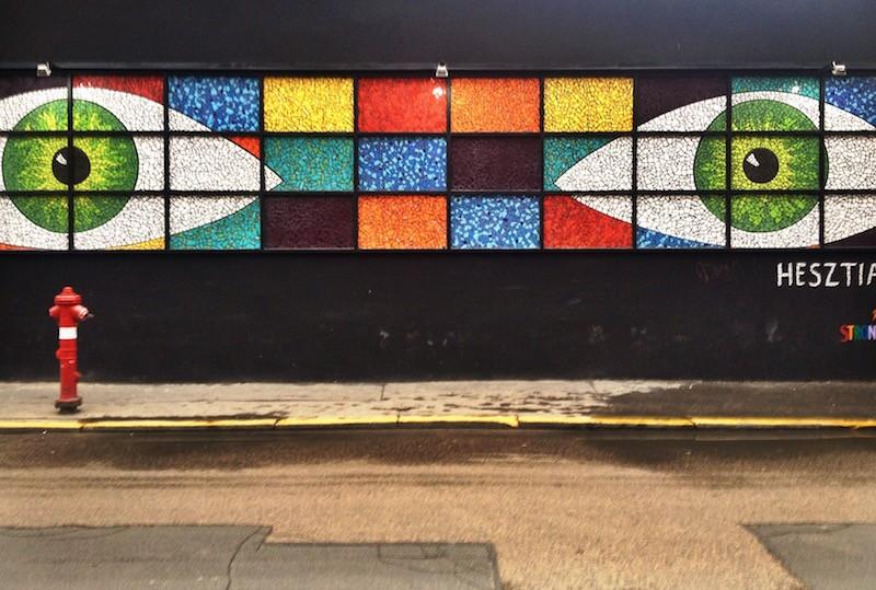 Mosaic Tile Eyes - Street or Gallery - Budapest