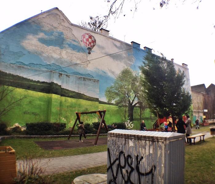 Playground Mural Király Utca Street Art Budapest