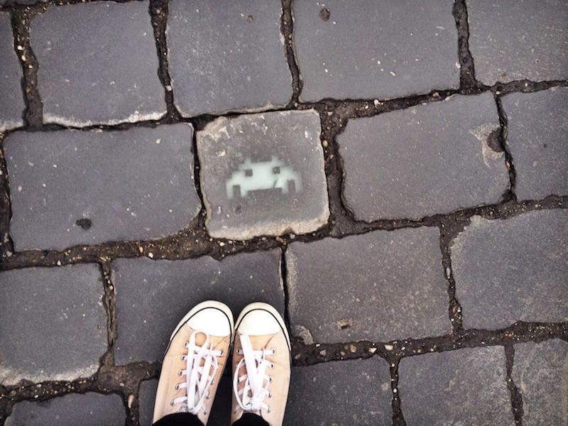 Space Invader Street Art Budapest