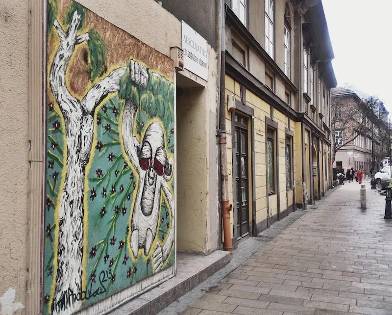 Street Art on Kiraly Utca Budapest