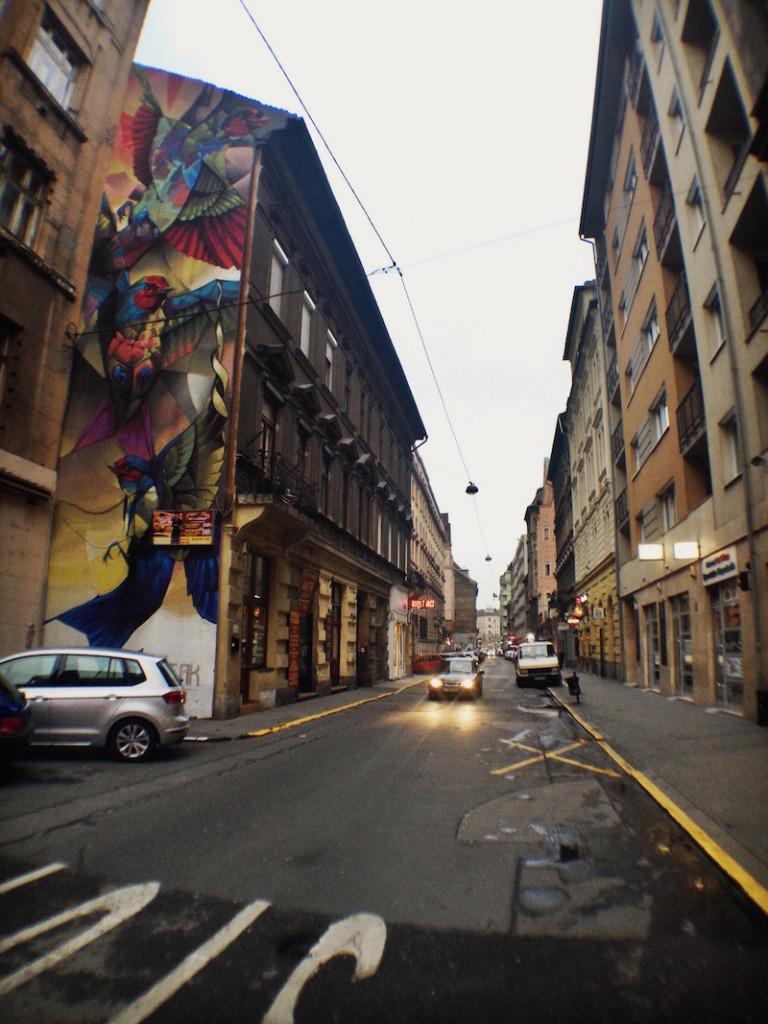 Swallows Street Art Mural Budapest