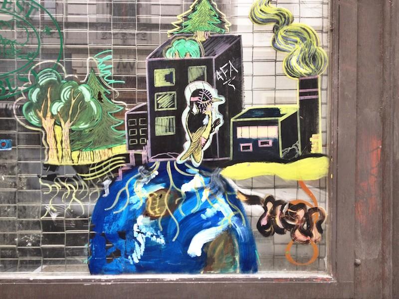Window Etching Street Art Budapest