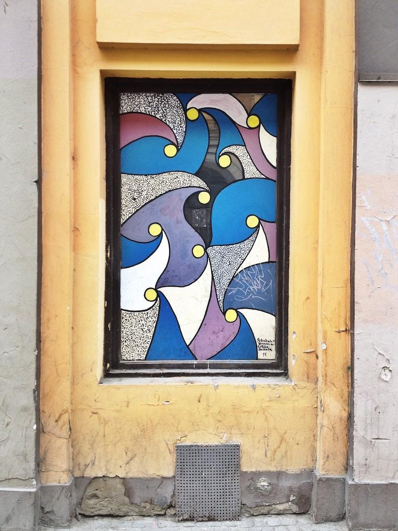 Window Mosaic Street Art Budapest