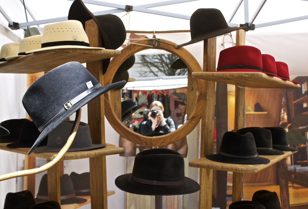 Schwerin Photos - Market Square Hat Stall