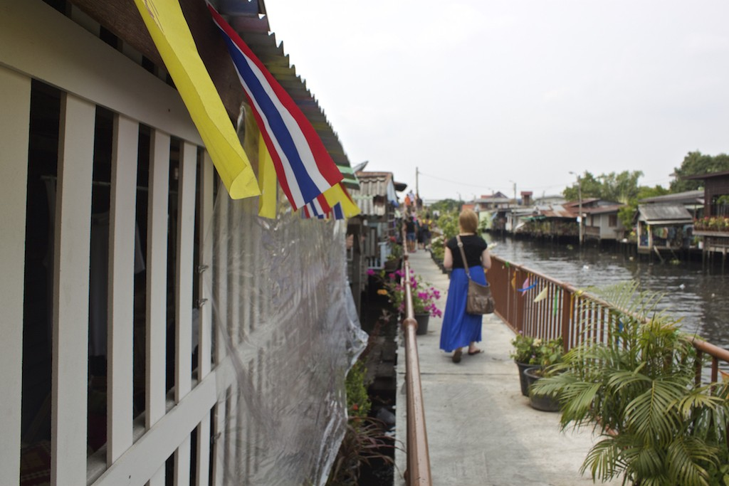 Thai Flags Along the Canals Klong Bang Luang Artist House Bangkok